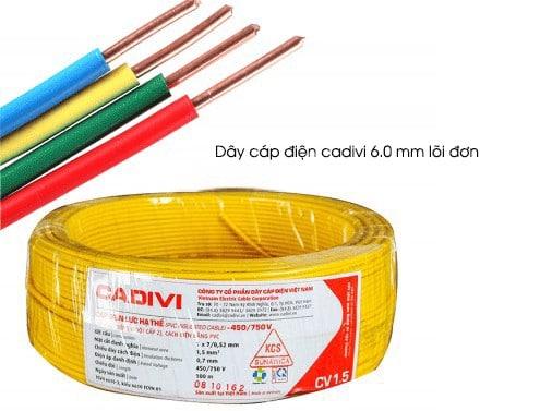 Dây Điện Cadivi 6.0mm Don